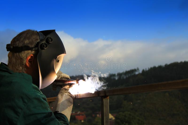 Download Welder working outside stock photo. Image of craftsman - 30433620