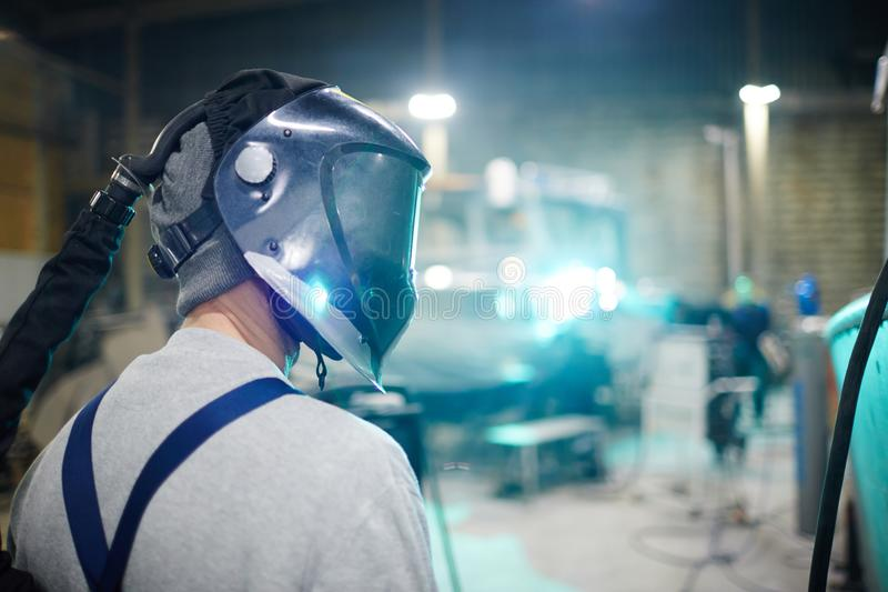Welder in workwear royalty free stock images