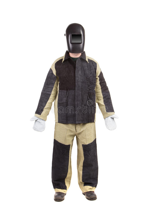 Welder in workwear suit. royalty free stock photo