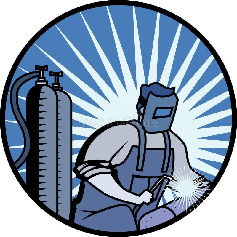 welderworking vektor illustrationer