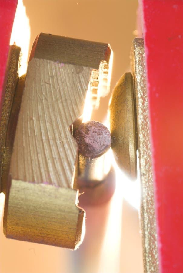 Welding electrode detail stock photo