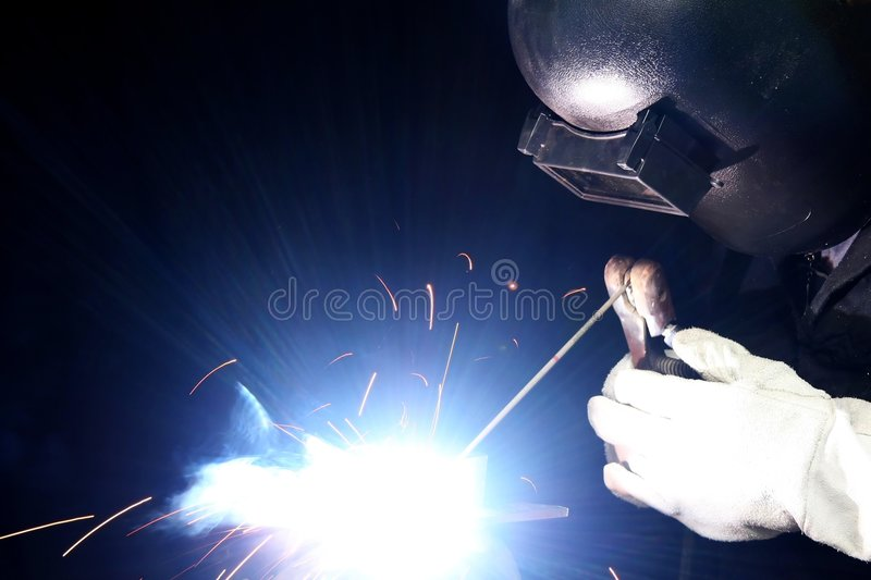 Welding Light And Sparks Royalty Free Stock Images
