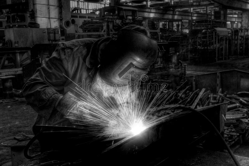 Download Welding stock photo. Image of power, black, sparks, spark - 83712182