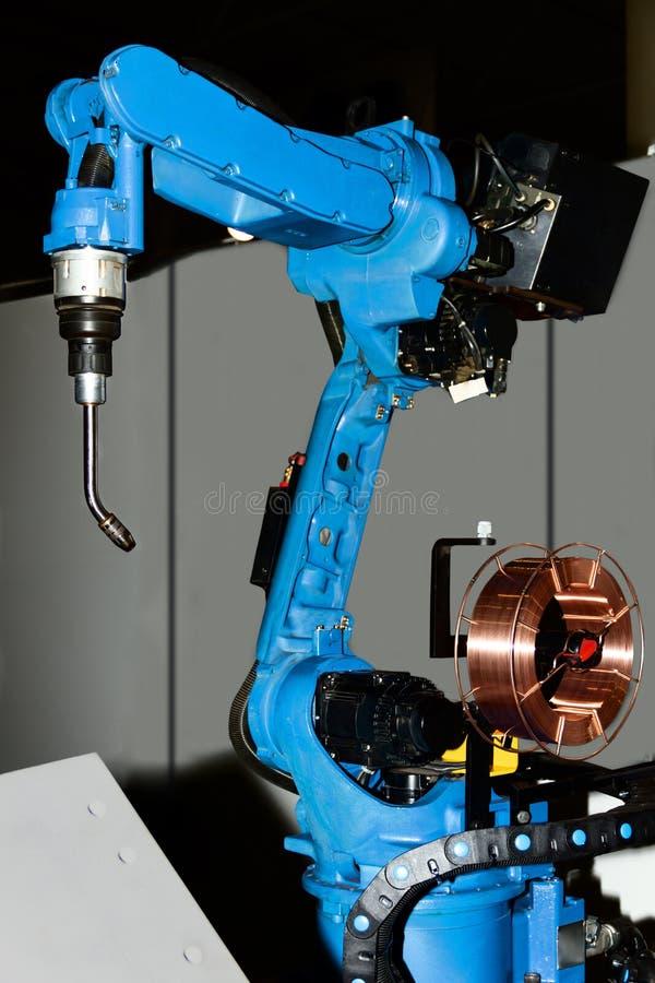 Welding plasma kuka robot hand stock photos