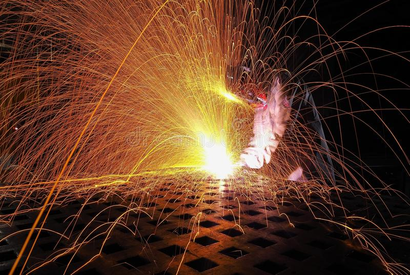 Welding Process stock photography