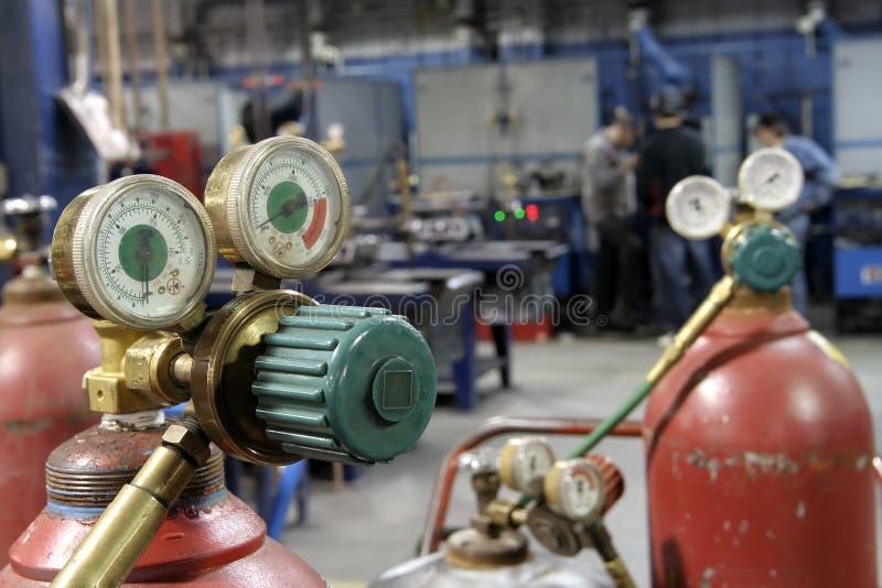 Download Welding shop stock image. Image of bottle, industry, gauge - 2197539