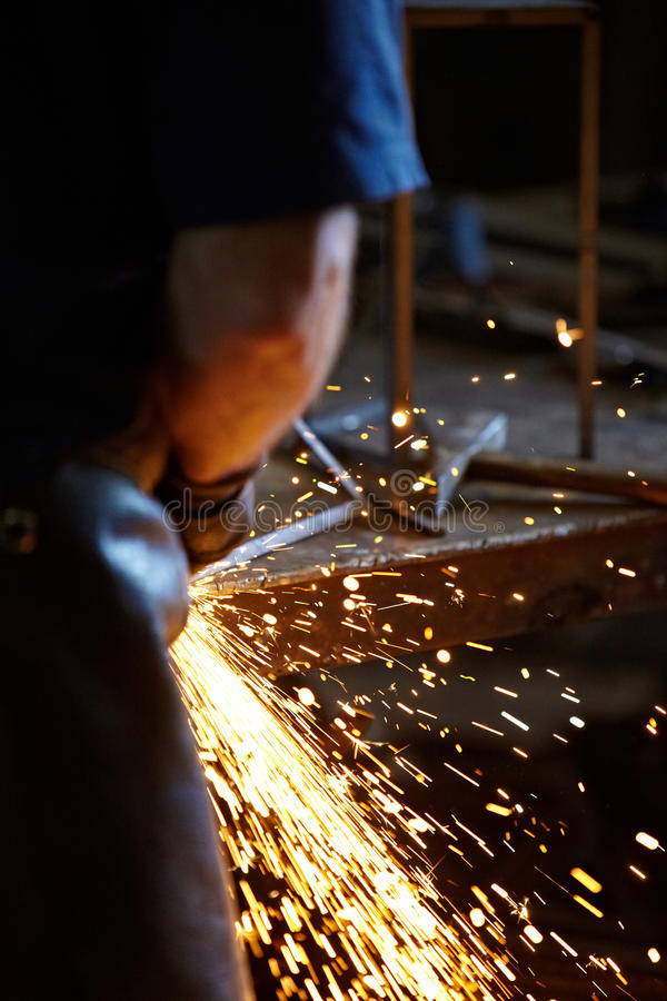 Download Welding sparks stock photo. Image of flare, engineering - 25375136