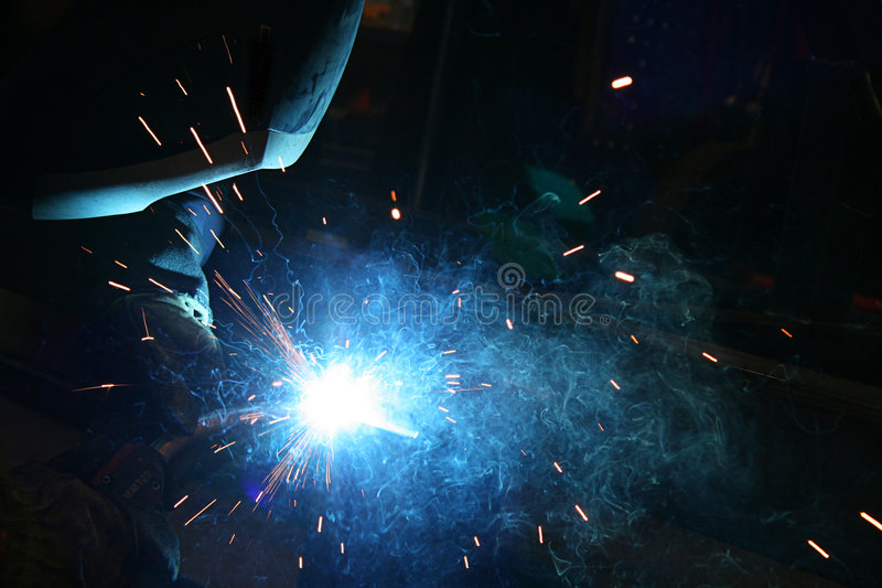 Welding Sparks royalty free stock photo