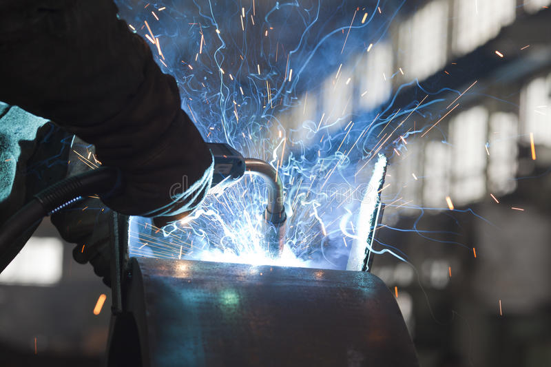Download Welding Steel stock image. Image of manufacturing, sparks - 23714423
