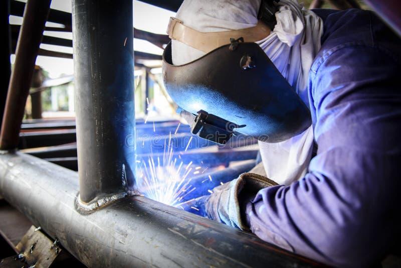 Welding steel structure stock images