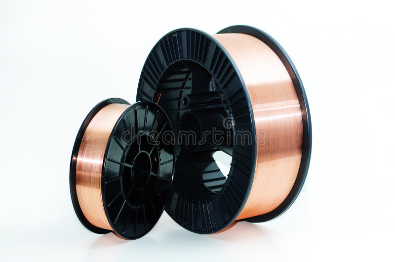 Welding wire royalty free stock photo