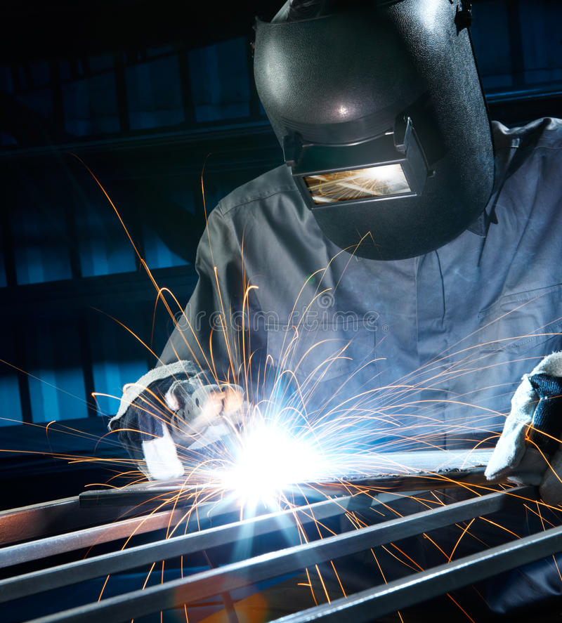 Am A Rider Song Download: Welding In Workshop Stock Photography