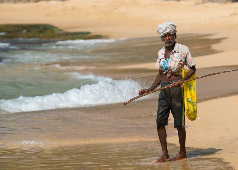 WELIGAMA, SRI LANKA - 18 JANVIER 2017 : Portrait des poissons locaux photos stock