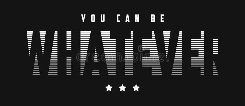Welk slogan grafisch ontwerp ook voor t-shirt De typografiedruk van het T-stukoverhemd Vector stock illustratie