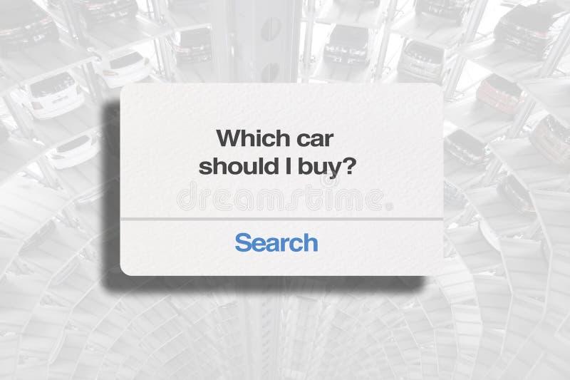 Welke auto zou ik moeten kopen? stock foto's