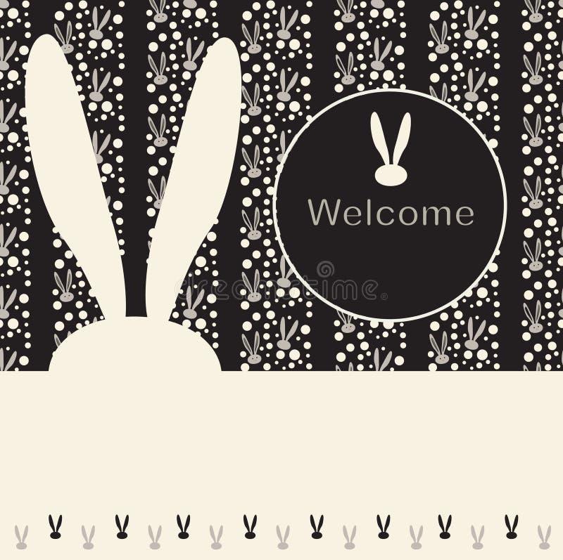 Welkom affiche vector illustratie