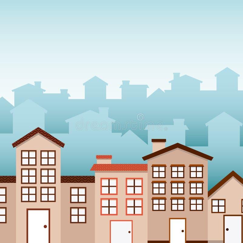 Welkom buurt stock illustratie