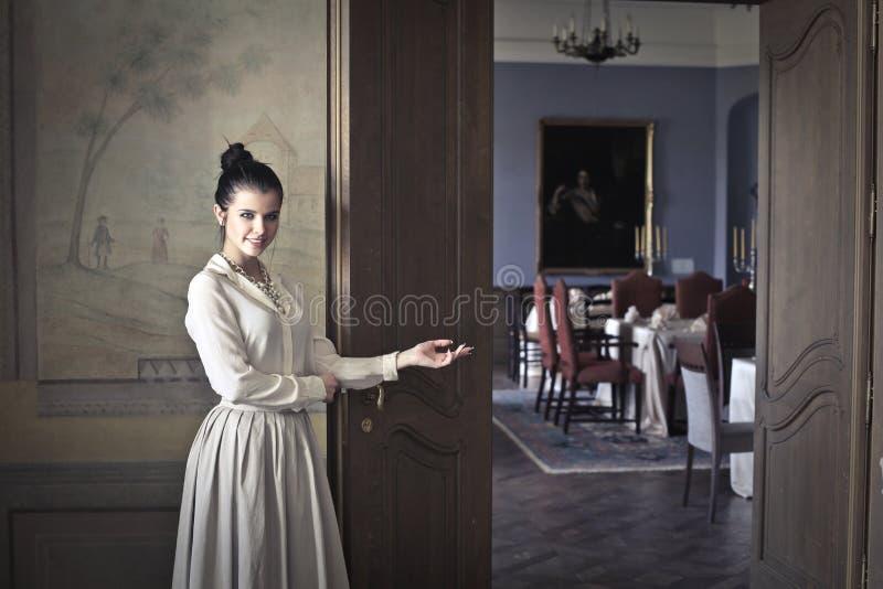 Welkom diner royalty-vrije stock foto