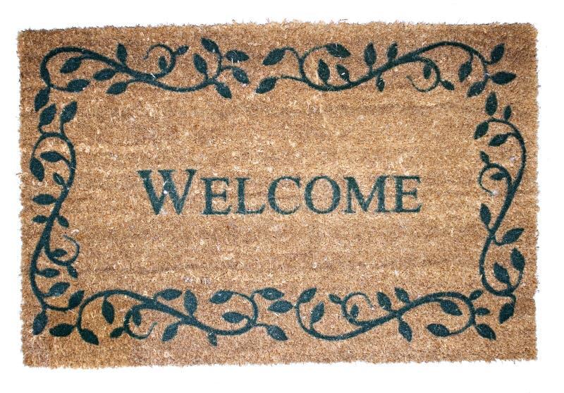 Welkom mat stock foto's