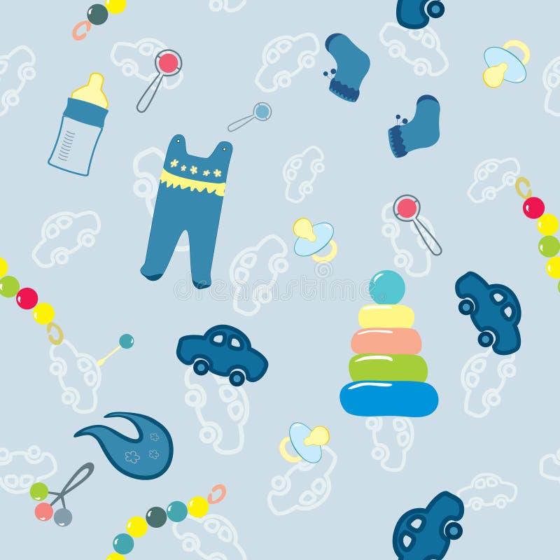 Welkom nieuwe babyjongen vector illustratie