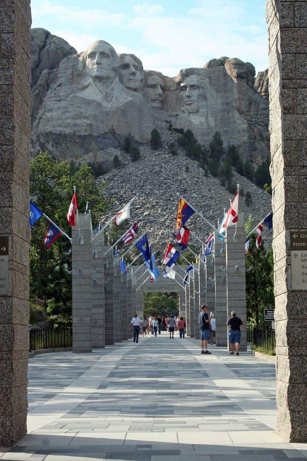 Welkom om Rushmore, Zuid-Dakota op te zetten royalty-vrije stock afbeelding