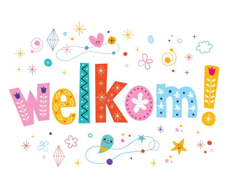 Welkom - Onthaal In Nederlandse Taal Vector Illustratie ...