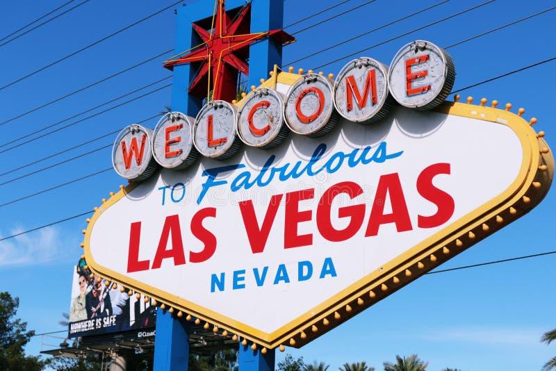 Welkom stad Las Vegas, Amerika, de V.S. nooit om te slapen royalty-vrije stock foto