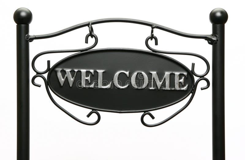 Welkom Teken stock afbeelding