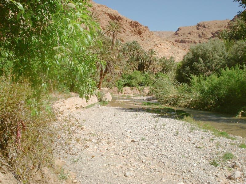 Welkom water in de Hoge Atlas stock fotografie