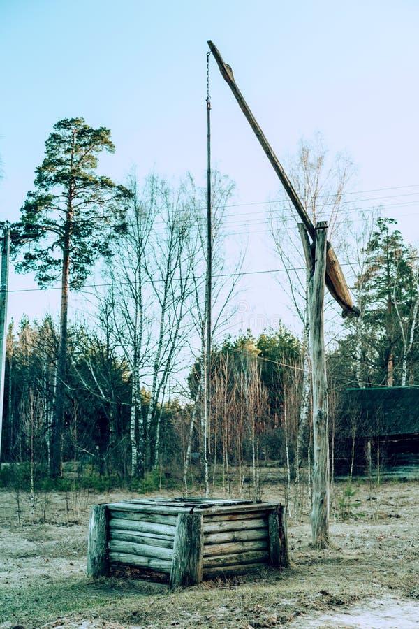 Well żuraw dla wodnego outside zdjęcie royalty free