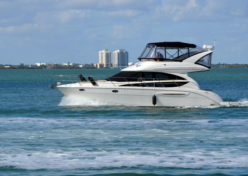 Well Appointed Cabin Cruiser royalty free stock image