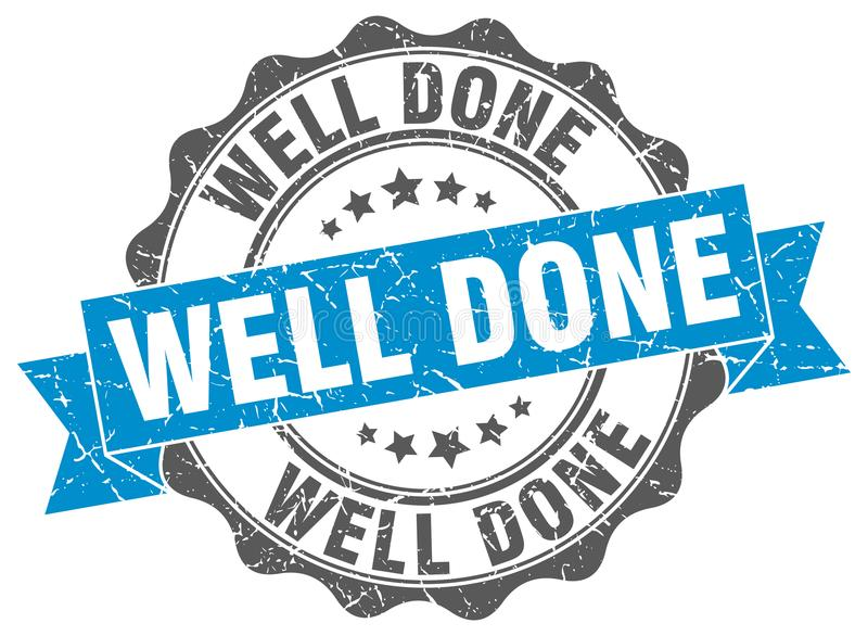 Well done stamp. Well done grunge stamp on white background vector illustration