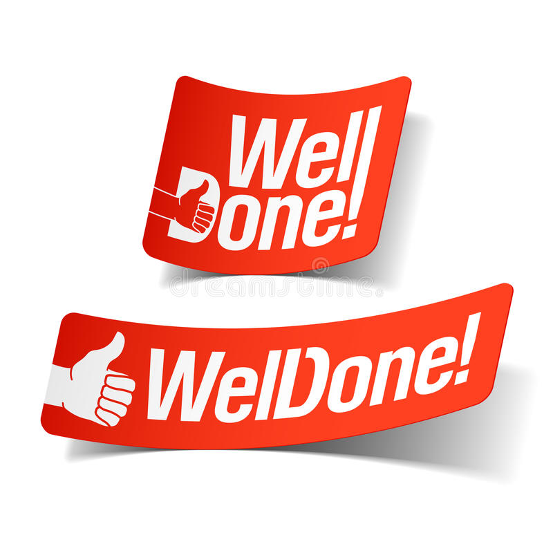 Free Well Done Label Stock Photo - 20018310