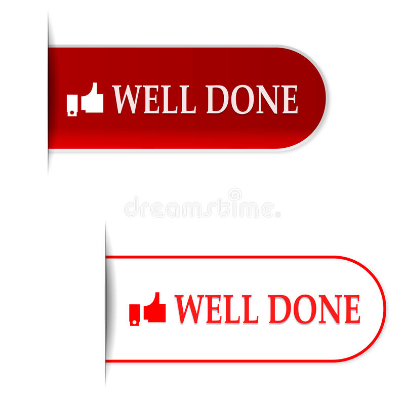 Well done signs. Illustration of two different well done signs with a white background vector illustration