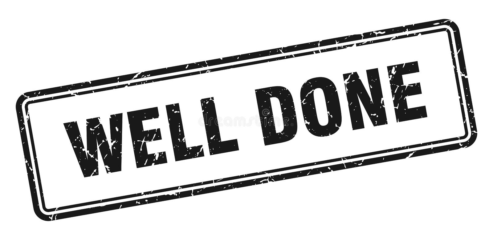 Well done stamp. Well done grunge vintage stamp isolated on white background. well done. sign vector illustration