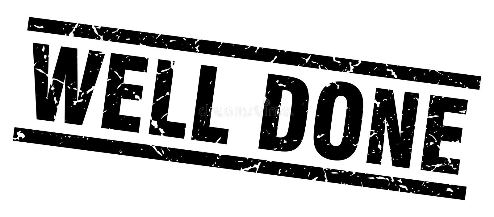 Well done stamp. Well done grunge vintage stamp isolated on white background. well done. sign royalty free illustration