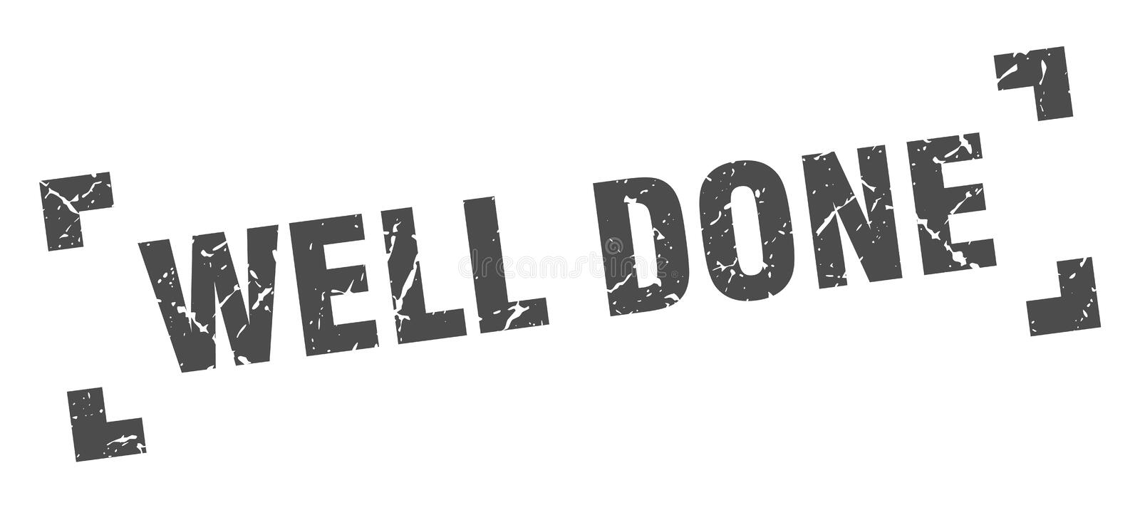 Well done stamp. Well done grunge vintage stamp isolated on white background. well done. sign stock illustration