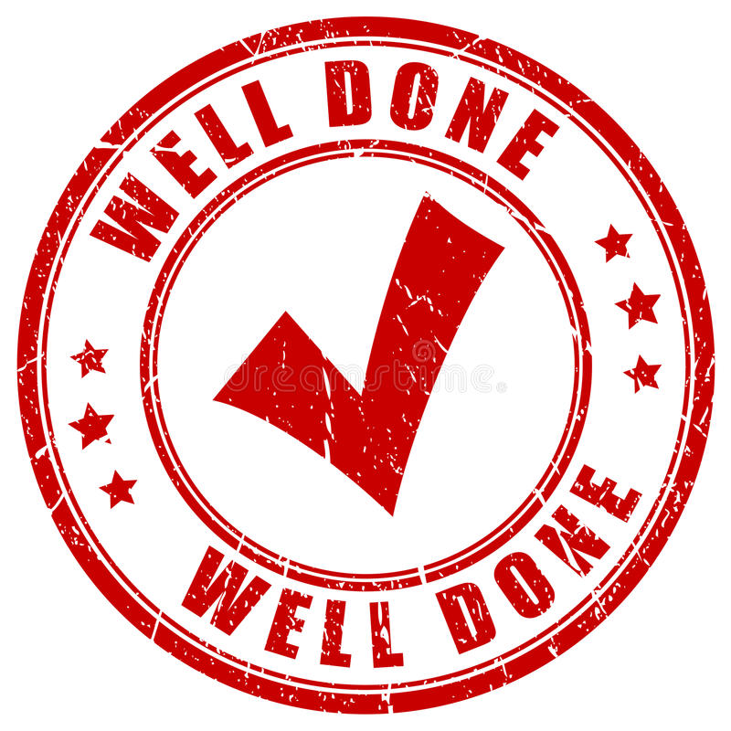 Well done stamp stock illustration
