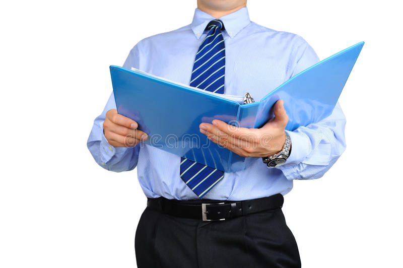 Well-dressed businessman is checking a stock images