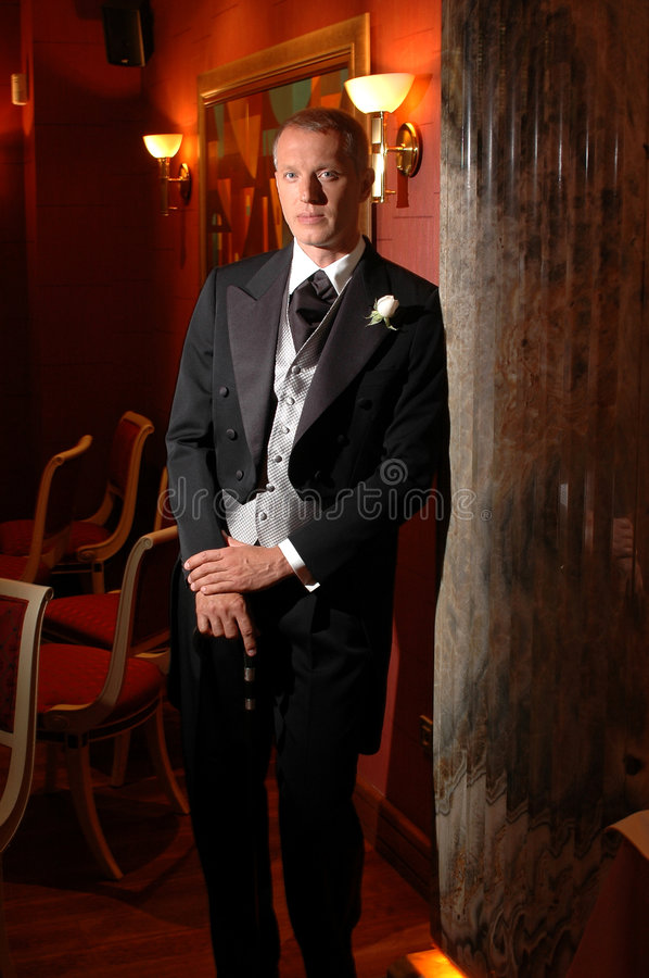 Well dressed person royalty free stock photography