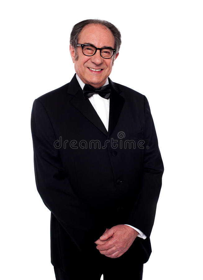 Download Well Dressed Smiling Senior Male Posing Stock Image - Image: 25622163