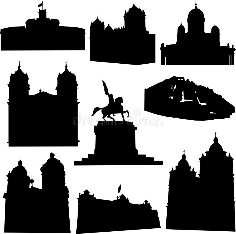 Well-known Peru architecture vector illustration