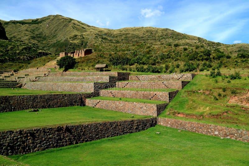 Well konserwował rolnicze inka ruiny Tipon, znakomity archeologiczny miejsce w Cusco zdjęcie royalty free