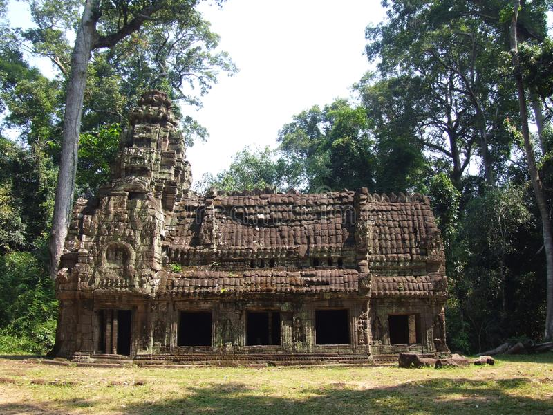 An old building at Preah Khan temple. Well-preserved ruins of an old building at Preah Khan temple, Siem Reap, Cambodia stock images