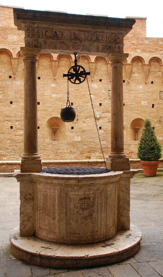 Well in Sienna stock photo