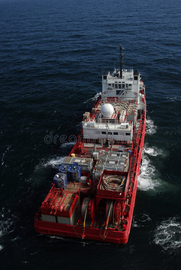 Download Well Stimulation Boat stock photo. Image of derricks, offshore - 1595222