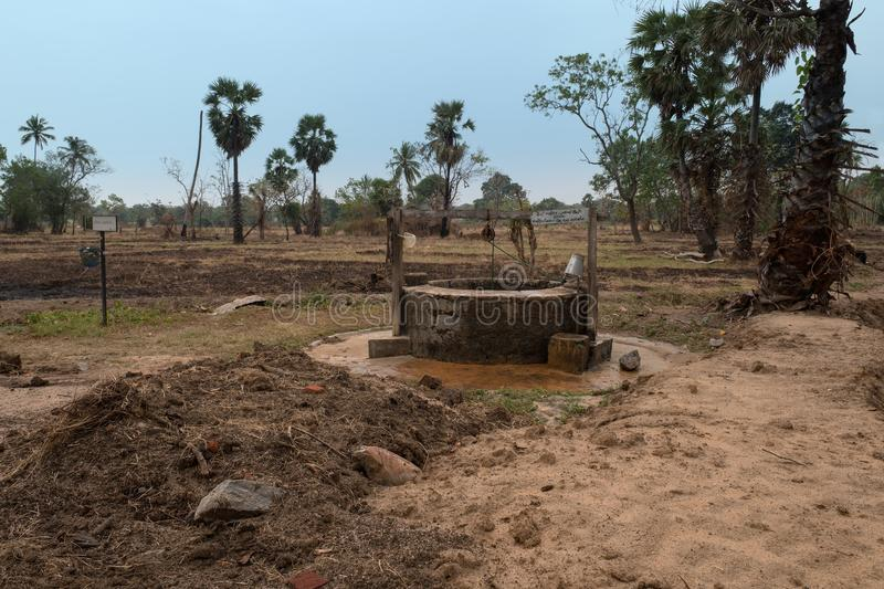 Well woda w dalekiej części Sri Lanka obraz royalty free