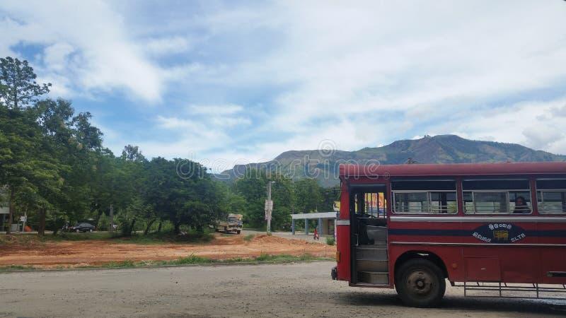 Amaizing bus stand of Sri Lanka stock image