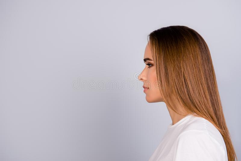 Wellbeing and wellness, beauty and health concept. Coseup side p royalty free stock images