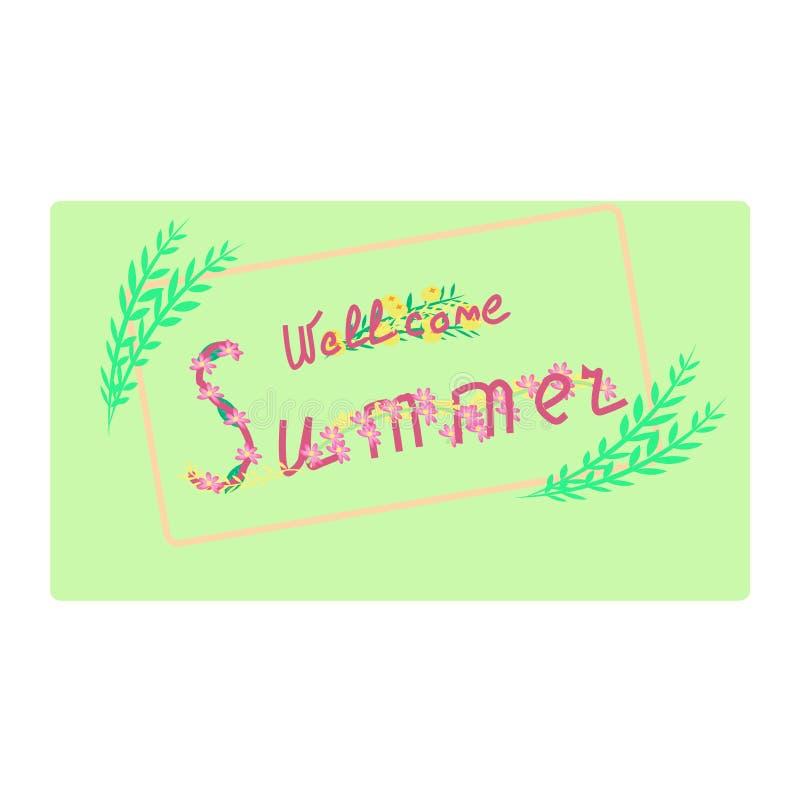 Download Wellcome夏天 库存例证. 插画 包括有 红色, 现有量, 夏天, 绿色, 信函, 文本, berrying - 72369226